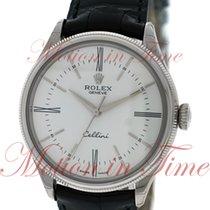 Rolex Cellini Time, White Lacquer Dial - White Gold on Strap