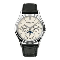Patek Philippe Grand Complications Moonphase White Gold Black...