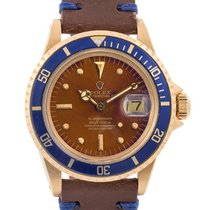 Rolex Submariner Date Vintage Tropical Dial 40mm In Oro Giallo...