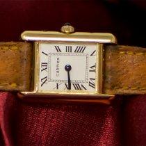 Cartier TANK 18KT YG  WRISTWATCH WITH DEPLOYMANT