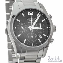 Longines Conquest Classic Chronograph Black Dial Watch 41mm...