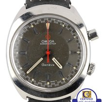 Omega Chronostop Geneve Stainless Mechanical 35mm Watch 145.009