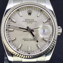 Rolex Oyster Perpetual Date Silver Dial 34MM, Box&Papers/2009