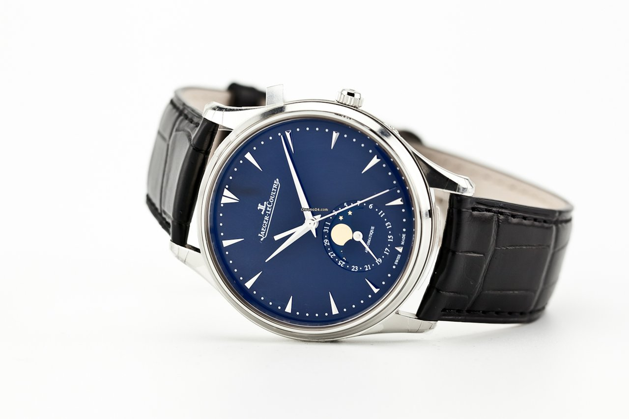 Jaeger Lecoultre Master Ultra Thin Moon 1368470 Black For 7 450 From A Trusted Er On Chrono24