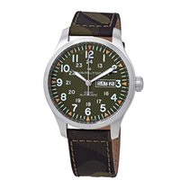 Hamilton Khaki Field Day Date Steel 42mm Green Arabic numerals