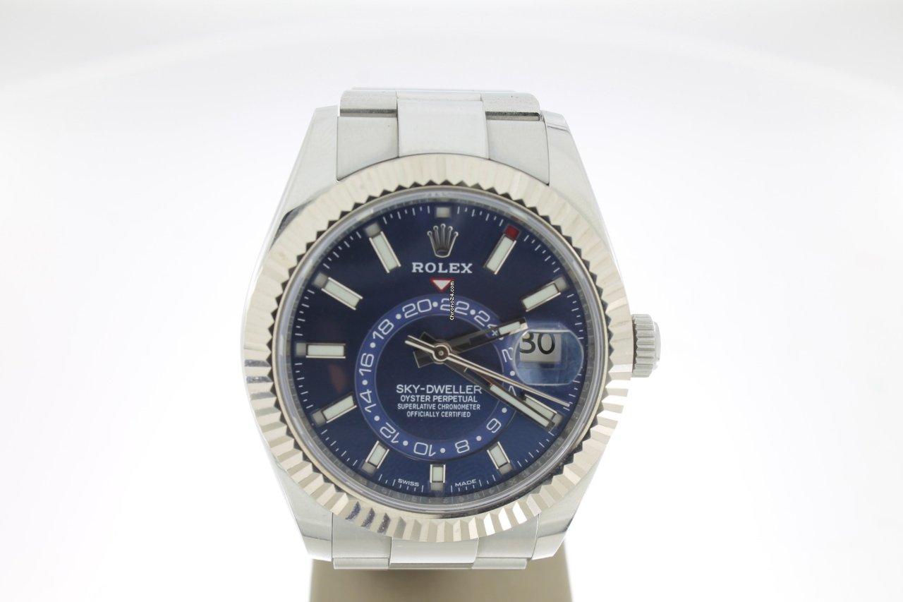 Kleurplaten Topmodelen.Rolex Sky Dweller Staal Horloges Rolex Sky Dweller Staal Horloge