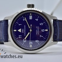 IWC Platinum Automatic Blue Arabic numerals 36mm pre-owned Pilot Mark
