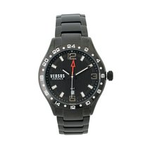 Versace Versus by Versace Men's SCB070016 Round Stainless Steel Blac new United States of America, New Jersey, Edison