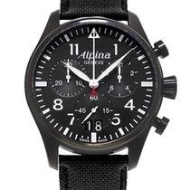 Alpina Startimer Pilot nuevo 2014 Cuarzo Cronógrafo Reloj con estuche y documentos originales AL-372B4FBS6