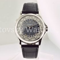 Patek Philippe World Time Platinum 37mm Blue United States of America, California, Beverly Hills