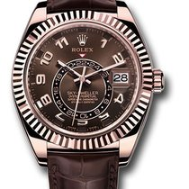 Rolex Or rouge Remontage automatique Brun Arabes 42mm occasion Sky-Dweller