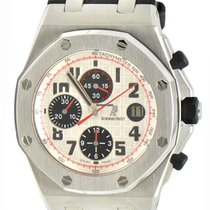 Audemars Piguet Royal Oak Offshore Chronograph occasion 42mm Blanc Chronographe Date Cuir