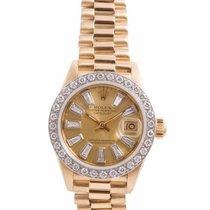 勞力士 (Rolex) Ladies 18K Gold President- Baguette Diamond Dial -...