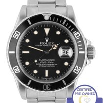 Rolex Vintage 1984 Rolex Submariner Date Patina 16800 Stainles...