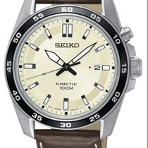 Seiko Kinetic SKA787P1 SEIKO SPORT Kinetic Acciaio Bianco Marrone 42,6mm new