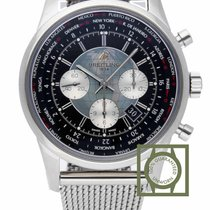 Breitling Transocean Chronograph Unitime nieuw 46mm Staal