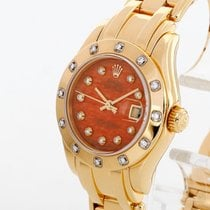 Rolex Yellow gold Automatic 29mm pre-owned Lady-Datejust Pearlmaster