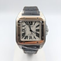 Cartier Santos (submodel) pre-owned 39.8mm Gold/Steel