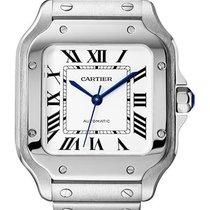 Cartier Santos (submodel) Сталь 35mm Cеребро Римские