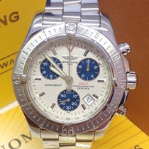 Breitling Colt Chronograph Silver Dial - Serviced by Breitling