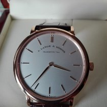 A. Lange & Söhne Red gold Manual winding Silver No numerals 40mm new Saxonia