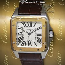 Cartier Santos 100 Gold/Steel 38mm Silver Roman numerals United States of America, Florida, 33431