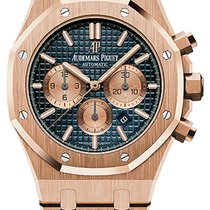 Audemars Piguet Royal Oak Chronograph Rose gold 41mm Blue No numerals United States of America, New York, New York