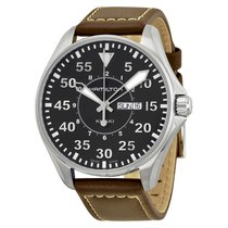 Hamilton Men's Khaki Aviation Pilot Black Dial H64611535