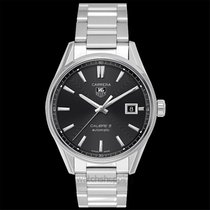 TAG Heuer Carrera Calibre 5 Automatic Watch Black Steel 39mm