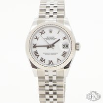 Rolex Datejust | 31mm white gold fluted bezel white dial | New 18