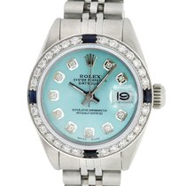 Rolex 26mm Automatic pre-owned Lady-Datejust Blue