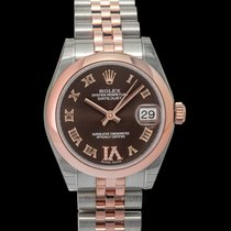 Rolex Rose gold Automatic Brown 31mm new Lady-Datejust