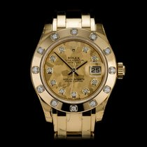 Rolex Lady-Datejust Pearlmaster Yellow gold 29mm Champagne