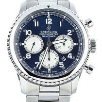 Breitling Navitimer 8 pre-owned 44mm Blue Chronograph Date Fold clasp