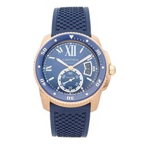 Cartier Calibre de Cartier Diver Rose gold 42mm Blue Roman numerals United States of America, Pennsylvania, Bala Cynwyd