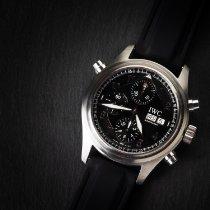 IWC Pilot Double Chronograph Steel 42mm Black Arabic numerals