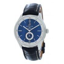 Breitling Acier 40mm Bleu Sans chiffres