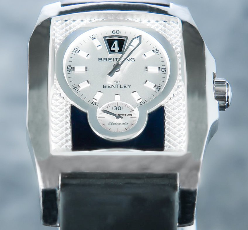 Breitling Bentley Flying B Silver Dial Blue Jumping Hour C 722 982a