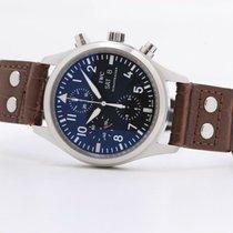 IWC Pilot Chronograph Aço 42mm Preto Sem números