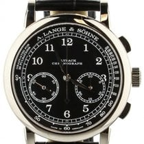 A. Lange & Söhne White gold Manual winding Black 39.5mm pre-owned 1815