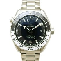 Omega Steel Automatic Omega Black Stainless Steel Seamaster Planet Ocean pre-owned