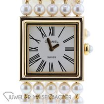 Chanel Mademoiselle Yellow gold 22mm Roman numerals