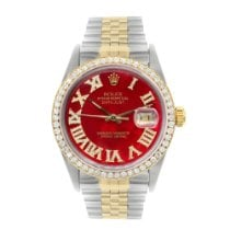 Rolex Datejust Gold/Steel 36mm Red Roman numerals United States of America, New York, New York