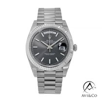 Rolex Day-Date 40 White gold 40mm Grey No numerals United States of America, New York, New York