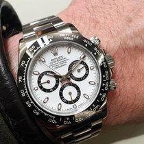 Rolex NEW-全新 Daytona 116500LN White Dial Cerachrom Black Bezel