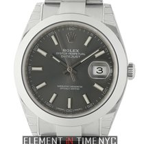 Rolex Datejust II Steel 41mm Rhodium Index Dial Oyster Bracelet