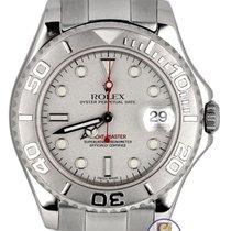 Rolex 2001 Rolex Yacht-Master Mid-Size Platinum Stainless 35mm...