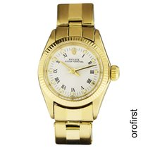 Rolex Yellow gold Automatic White 25mm pre-owned Oyster Perpetual 26