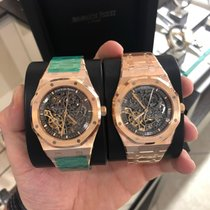 Audemars Piguet Royal Oak Double Balance Wheel Openworked Rose gold 41mm Transparent No numerals
