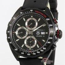 豪雅 計時碼錶 44mm 自動發條 新的 Formula 1 Calibre 16 黑色